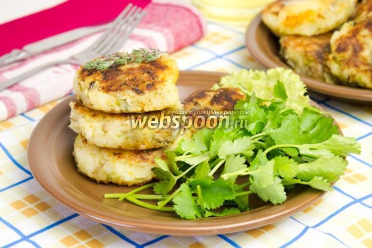 Фото Овощные котлеты из картофеля и шампиньонов
