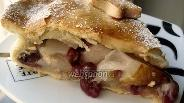 Фото рецепта Закрытый песочный пирог с грушей и брусникой