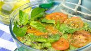 Фото рецепта Помидоры под зелёным соусом