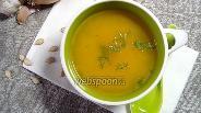 Фото рецепта Суп-пюре из тыквы с имбирём