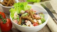 Фото рецепта Салат из куриной грудки с сухариками