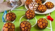 Фото рецепта Печенье «Мячи Евро 2012» с заварным кремом