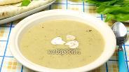 Фото рецепта Крем-суп из шампиньонов постный