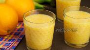 Фото рецепта Смузи из апельсинов и банана
