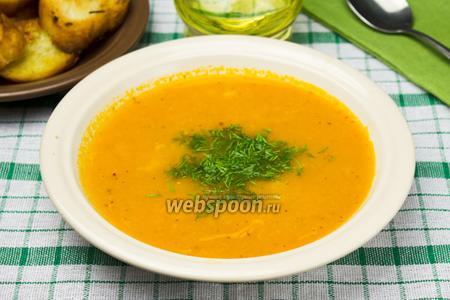 Томатный крем-суп с креветками