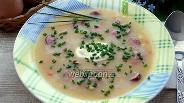 Фото рецепта Гороховый суп с охотничьими колбасками