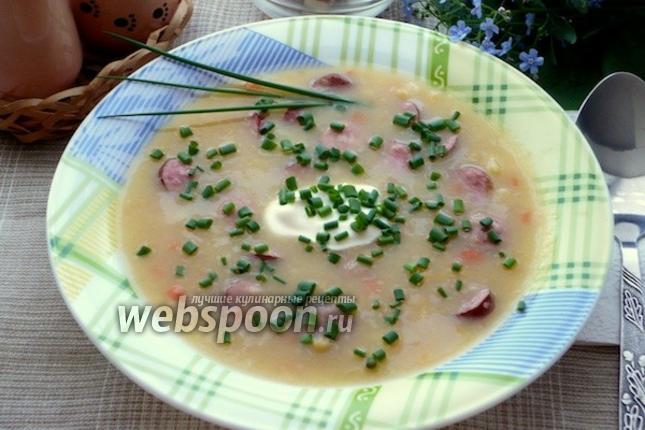 Фото Гороховый суп с охотничьими колбасками