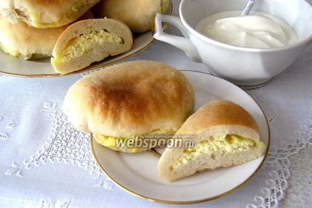 Фото рецепта Пирожки с творогом печёные