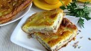 Фото рецепта Открытый пирог с сайрой и картофелем