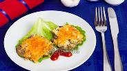 Фото рецепта Печёночные отбивные с сыром и яблоками