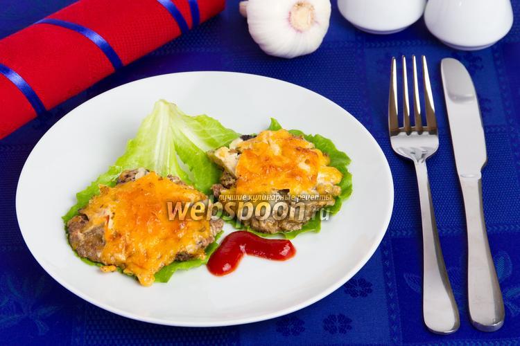 Фото Печёночные отбивные с сыром и яблоками