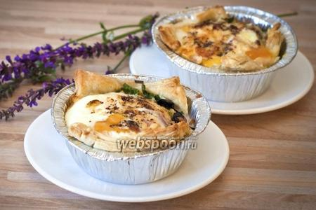 Яичница в тесте с сыром