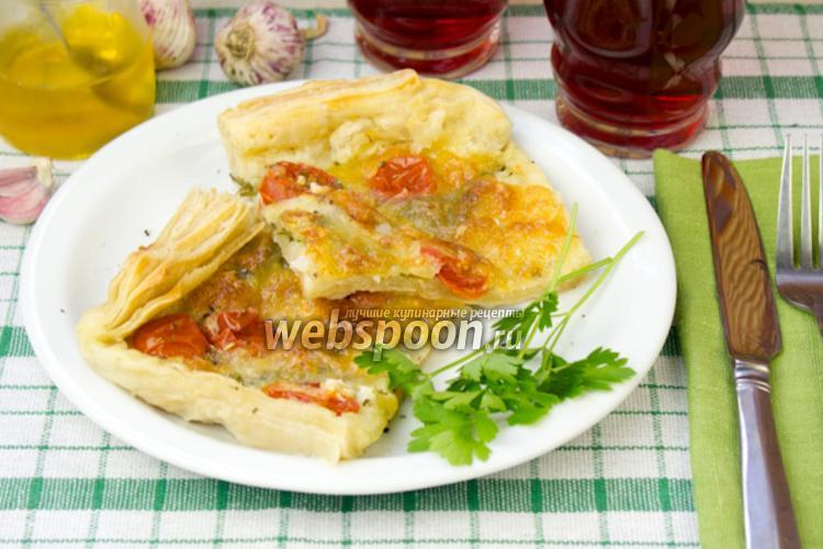 Фото Пирог с сыром и томатами