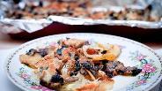 Фото рецепта Мясо с картошкой и грибами