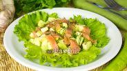 Фото рецепта Салат с авокадо и красной рыбой