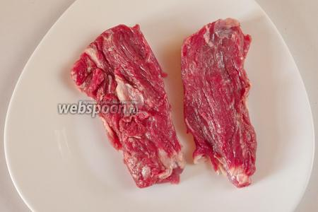 Мясо нарезать порционными кусками.