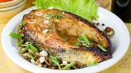 Фото рецепта Жареный лосось в соевом соусе