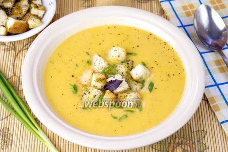 Фото рецепта Суп-пюре с чечевицей