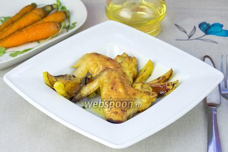 Куриные крылышки с яблоками