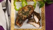 Фото рецепта Свиная корейка на кости в духовке в травах