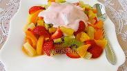Фото рецепта Десертный салат «Пища богов»
