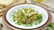 Фото рецепта Филе минтая с рисом и зеленью