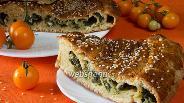 Фото рецепта Пирог со шпинатом и сыром