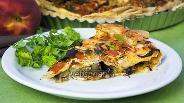 Фото рецепта Слоёный пирог из лаваша с баклажанами