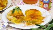 Фото рецепта Слоёный пирог с персиками
