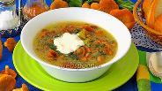 Фото рецепта Суп с лисичками