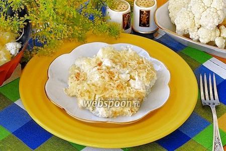 Цветная капуста с сыром и майонезом