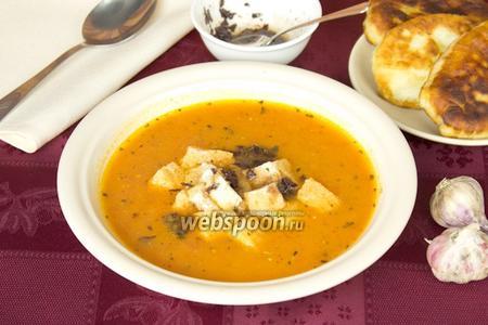 Суп-пюре из печёных помидоров с картофелем