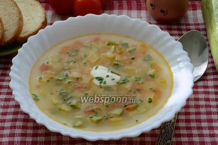 Суп с картофелем и кабачками
