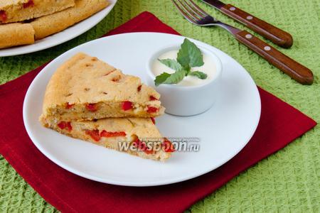 Имбирный пирог с овощами