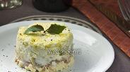 Фото рецепта Салат слоями с ветчиной