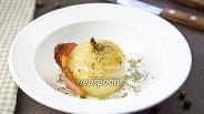 Фото рецепта Печёный лук с пармезаном