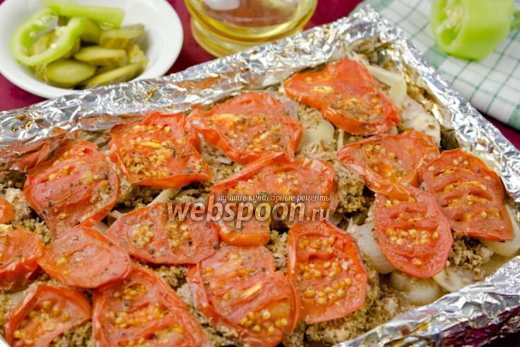 Фото Куриное филе с овощами и орехами