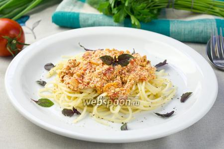 Фото рецепта Паста с рикоттой и томатами