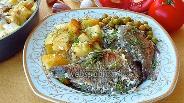 Фото рецепта Караси в сметане с картофелем