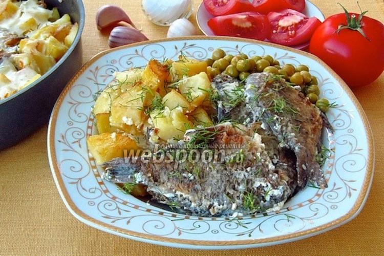 Фото Караси в сметане с картофелем