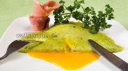 Фото рецепта Блинчики со шпинатом по-липецки