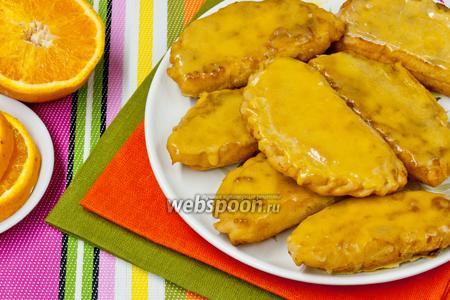 Самоса с творогом и апельсином