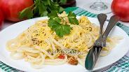 Фото рецепта Паста с помидорами, ветчиной и сыром