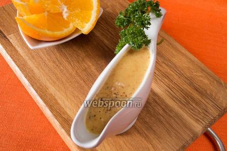 Апельсиновый соус с горчицей и кунжутом