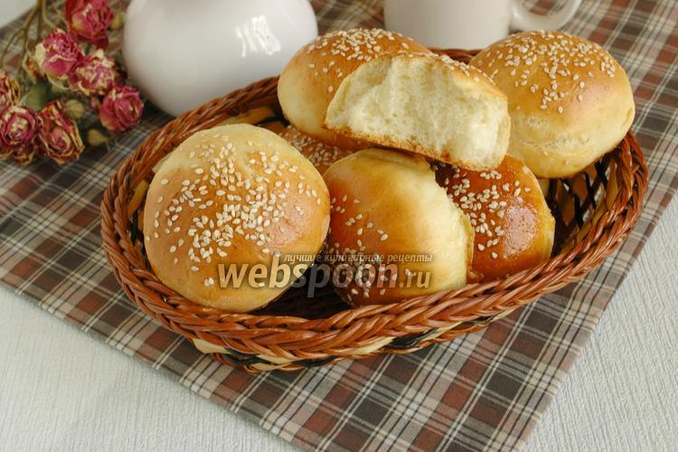 Булочки с кунжутом в духовке - рецепт пошаговый с фото
