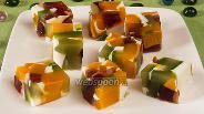 Фото рецепта Разноцветное желе