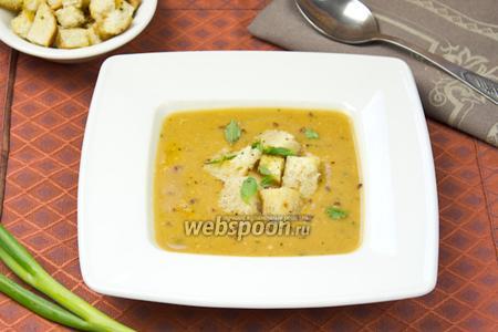 Суп-пюре из баклажан с чечевицей