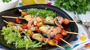 Фото рецепта Шашлычки с креветками на гриле