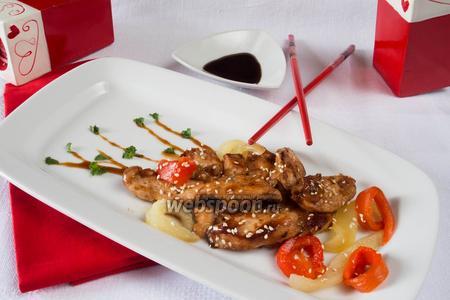 Куриное мясо в соусе Тэрияки