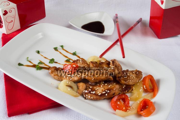 Фото Куриное мясо в соусе Тэрияки